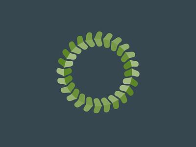 Green Chiro Clinic Logo logo identity branding