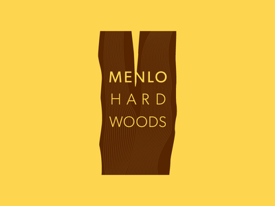 Menlo Hardwoods logo identity branding
