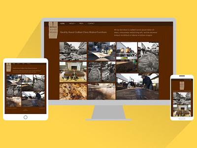 Menlo Hardwoods web ui responsive ux