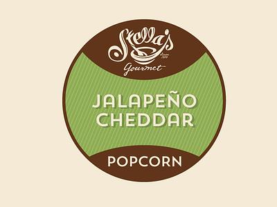 Stella's Popcorn Label label packaging branding
