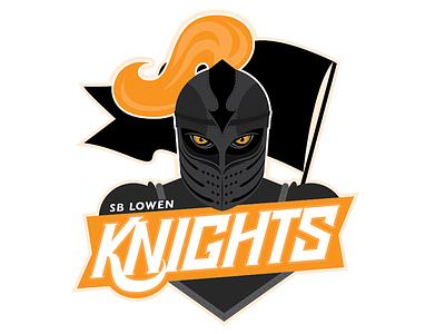 Knights Logo typography logo knights soccer