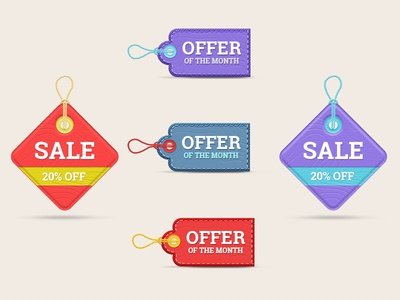 Realistic Price Tags sale offer discount shop label tags price realistic