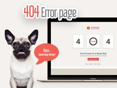 404 Error light red grey orange template html redirect page error lost 404 missing