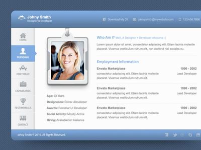 Vcard corporate modern blue clean project portfolio online website card vcard personal