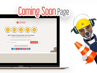 Coming Soon website working template page pre launch launch soon coming