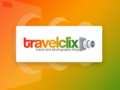Travelclix Logo travelling picture earth green post logo design information place blog photography travel