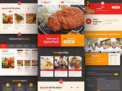 Spicehub Restaurant Website chef map recipe dinner lunch delicious menu food hub website restauranr