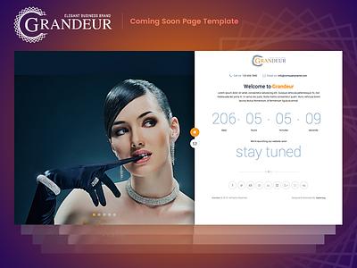 Grandeur Coming Soon html Template welcome clean minimal modern landing pages under construction coming soon html responsive grandeur