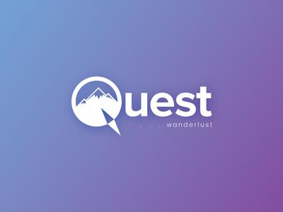 Quest illustration mountains design art concept journey voyage wander tours travel logo