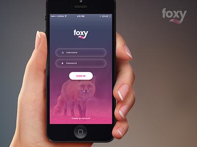 Foxy App Landing Page app screen interface ui design mobile app design bootstrap html mobile app developer ios android