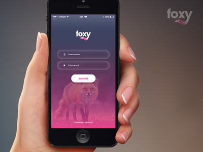 Foxy App Landing Page