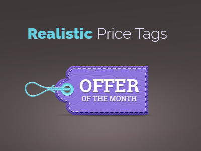 Realistic Price Tags monthly discount sale special offer website design brochure flyer template print