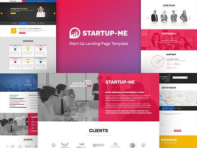 StartUp-Me Responsive Website work meetup growth report analysis graph seo statistics responsive startup