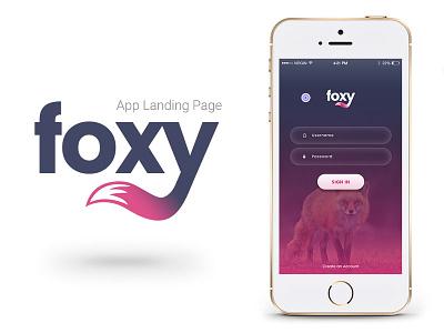 Foxy App sell buy business css3 html5 template marketing app landing
