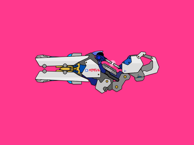 Zarya's Particle Cannon gun laser cannon pink video games tank rifle overwatch