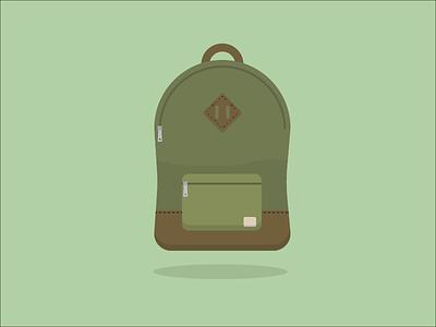 Backpack camo green herchel backpack