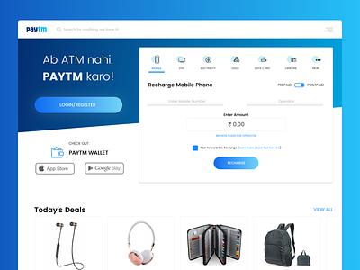 Paytm Redesign desktop landing page uiux web paytm