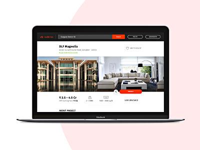 Redbrics Listing Detail apartment sketch minimal interface web listing icon flat design clean house app