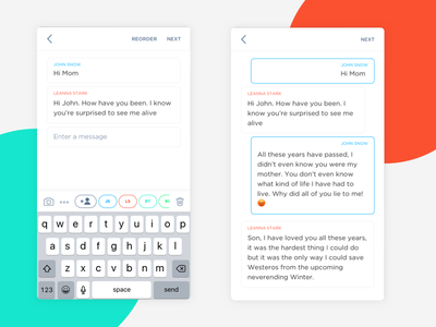 Chat Story Creation app white chat sketch uiux