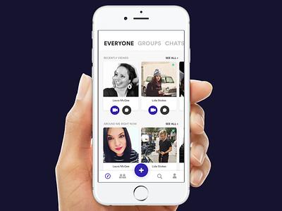 Social App - Meet New People! social app uiux sketch