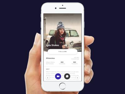 Social App Profile social app uiux sketch