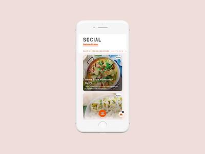 Social - One of India's most popular cafés/bars principle uiux sketch