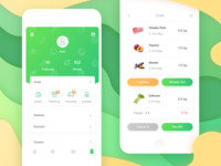 Personal Order Page(Fresh Food App)