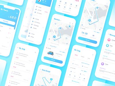 Electric Car Sharing App design flat ui app