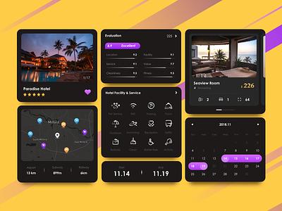 Hotel Detail Page Kits flat ui app
