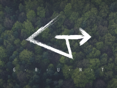 Grunt logo forest electro music ground grunt hipster