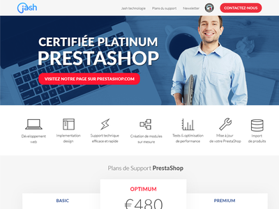 Simple landing page / pricing table / jash man contact landing service table pricing