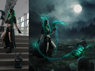Thresh - League of legends - cosplay/photo edit phtotomanipulation after before legends league fanart thresh edit cosplay photo