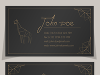 Elegant Polygonal Business Card Template