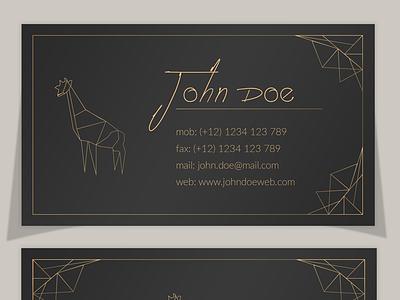 Elegant Polygonal Business Card Template download template business card dark polygonal elegant