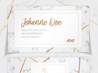 Elegant Marble Business Card Template