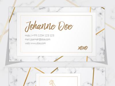 Elegant Marble Business Card Template golden polygonal template business card elegant marble