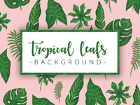 Tropical Leafs - watercolor + retro style - DOWNLOAD FREEBIE