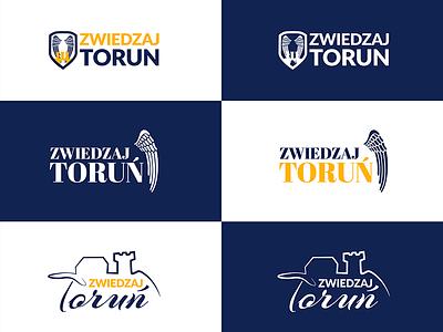 Zwiedzajtorun - logo options traveling travel torun thorn herb logo zwiedzajtorun