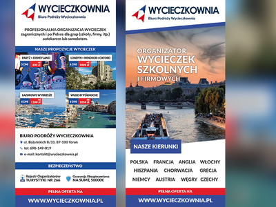 DL Leaflet - Wycieczkownia ulotka travel agency travel dl leaflet dl leaflet