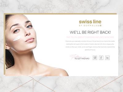 Swiss line Maintenance gold elegant marble beauty cosmetics web ux maintenance