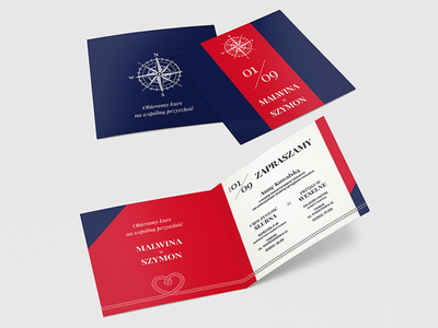 Invite 1 - travellers travel travellers white blue red square invitation
