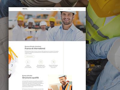 Metz - html layout onepage webdesign construction engineer layout website webdesign singlepage onepage html work construction engineer