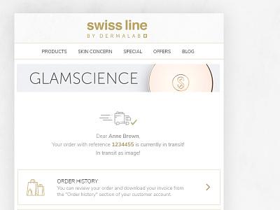 Swissline mail design - 1 glamour cosmetics elegant mailing mail