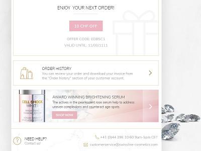 Swissline mail design - 2 cosmetics golden marble mail banner maling