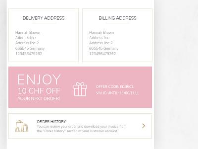 Swissline mail design - 3 golden gold pink address mailing cosmetics