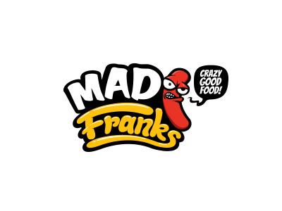 Mad Franks logo mad franks hot dog food fast food character comic