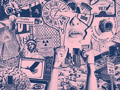 Las Furias newage time liberty thrash rock punk collage