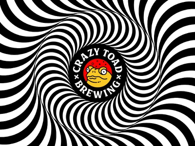 Crazy Toad Brewing opart optical queensland australia logo brewing beer frong toad crazy