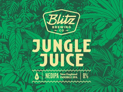 Jungle Juice - Beer label blitz juice jungle beer branding beer label beer can beer