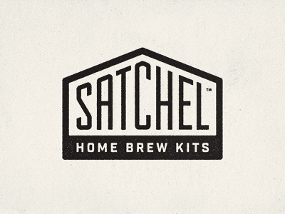 Satchel - Home Brew Kits branding badge grunge bold vintage lettering homebrewing grains brewery beer logo satchel